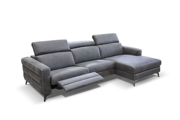 "Picture of BRACCI ERMES SOFA CHAISE RIGHT 116"" RECLINING"
