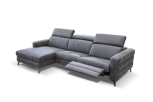 "Picture of Bracci Ermes Sofa Chaise Left 116"" Reclining"