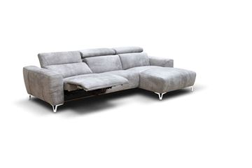 "Picture of Bracci Zeus Sofa Chaise Right 102"" Reclining"