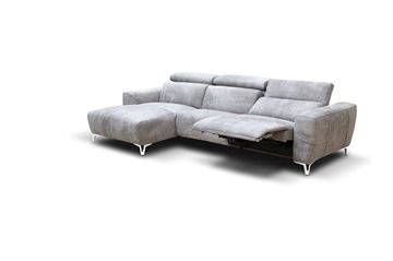 "Picture of Bracci Zeus Sofa Chaise Left 120"" Reclining"