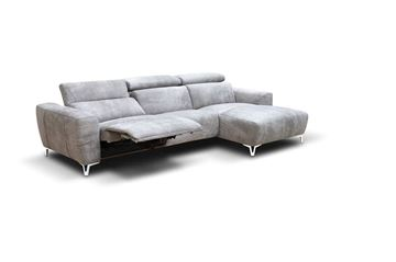 "Picture of Bracci Zeus Sofa Chaise Right 120"" Reclining"