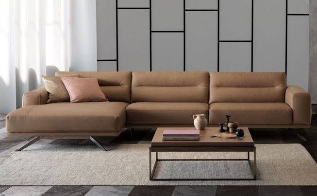 Natuzzi Editions Timido Sofa Chaise