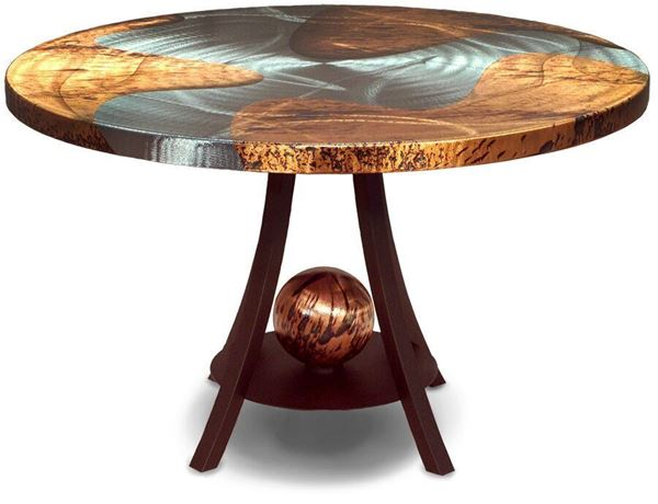 Picture of Oios Mercury Dining Table Nova Zebrano Finish