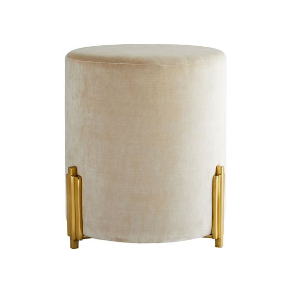 Picture of ARTERIORS Warby Ottoman Sterling Velvet