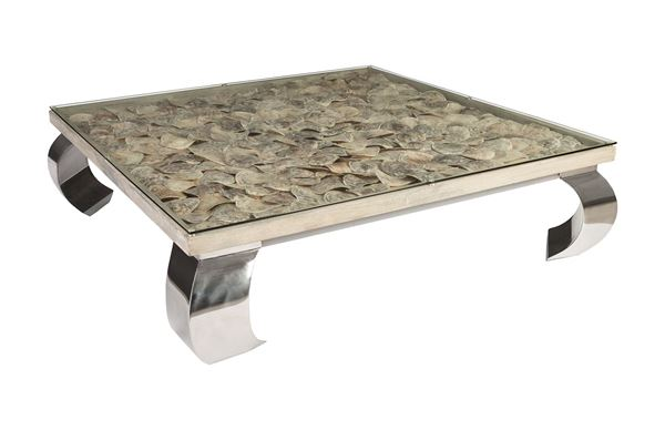 "Picture of Phillips Collection Shell Coffee Table 60"" Sq."