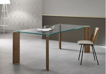 Picture of Tonelli Design Can Can Dining Table + Walnut Legs