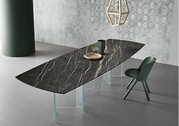 Picture of Tonelli Design Metropolis Dining Table Ceramic Boat Shape