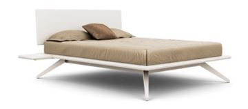 Picture of Copeland Furniture Astrid Bed Bright White Maple Solid