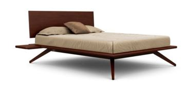 Picture of Copeland Furniture Astrid Bed Cocoa Maple Solid