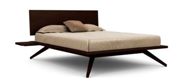 Picture of Copeland Furniture Astrid Bed Dark Chocolate Maple Solid