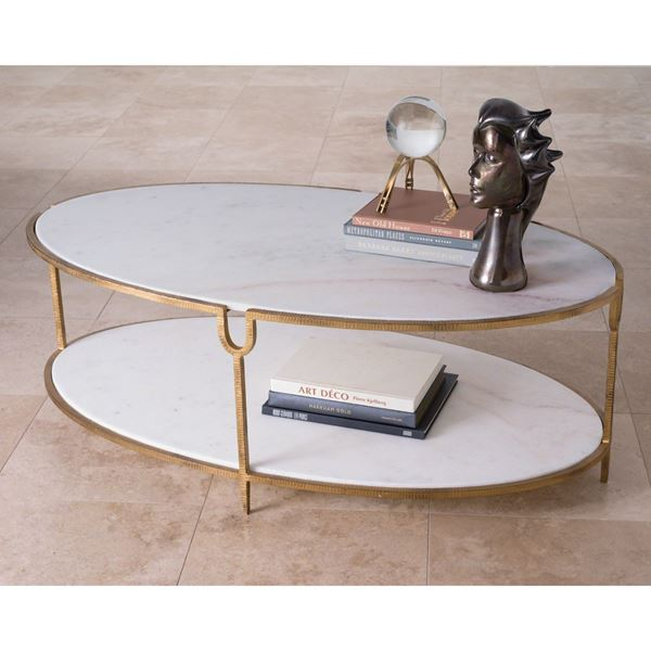 Picture of Global Views Iron and Stone Coffee Table 9.91786