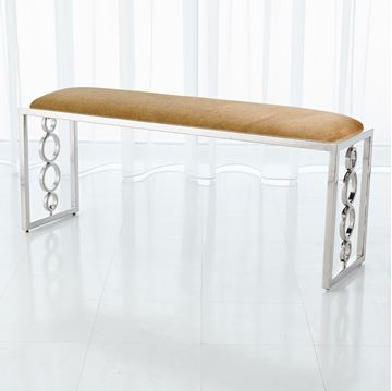 Picture of Global Views Progressive Ring Bench - NICKEL+BROWN SUGAR