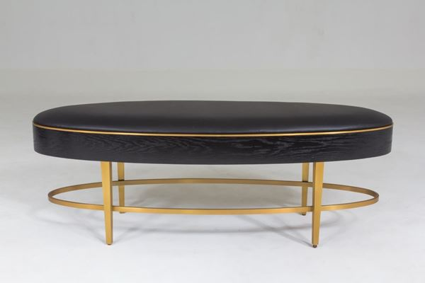 Picture of GLOBAL VIEWS ELLIPSE BENCH - EBONY