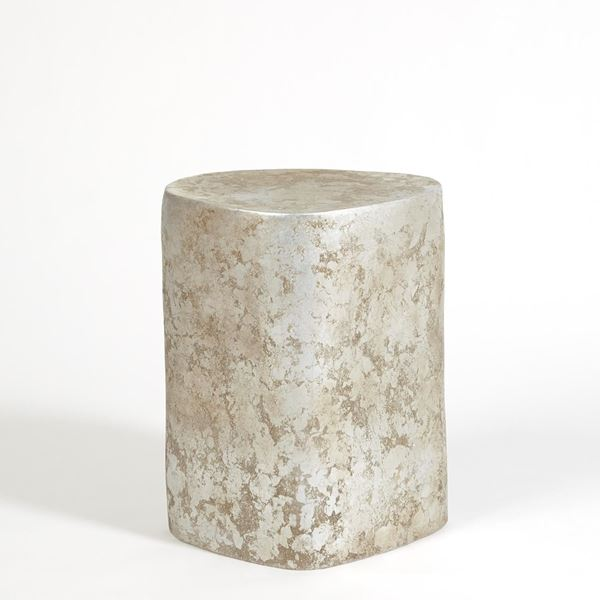 "Picture of GLOBAL VIEWS ORGANIC CERAMIC PEDESTAL 21"" - SILVER LEAF"
