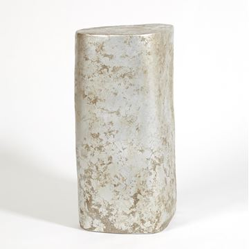 "Picture of GLOBAL VIEWS ORGANIC CERAMIC PEDESTAL 30"" - SILVER LEAF"