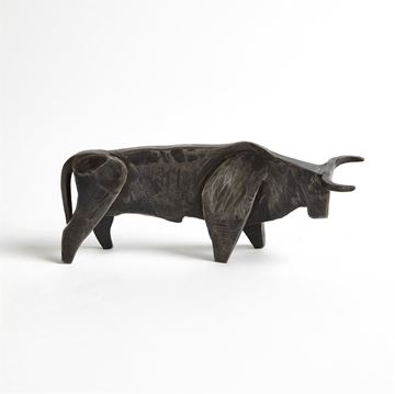 Picture of GLOBAL VIEWS BULL - NATURAL IRON