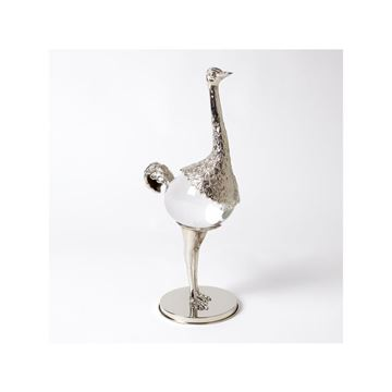 Picture of GLOBAL VIEWS OSTRICH - NICKEL