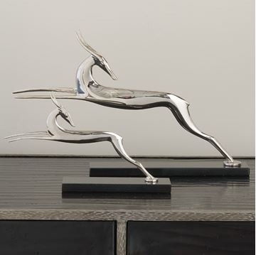 Picture of GLOBAL VIEWS NICKEL DECO DEER