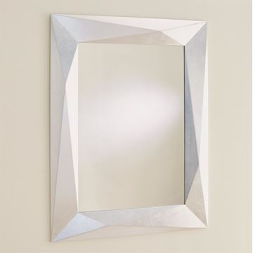 Picture of GLOBAL VIEWS ANGULAR MIRROR - SILVER LEAF