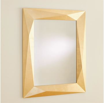 Picture of GLOBAL VIEWS ANGULAR MIRROR - GOLD LEAF