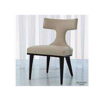 Picture of GLOBAL VIEWS ANVIL BACK DINING CHAIR - IVORY LEATHER