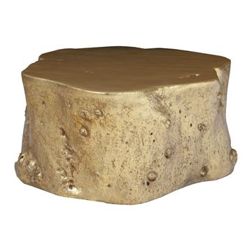 Picture of Phillips Collection Log Coffee Table Gold Finish
