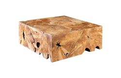 Picture of Phillips Collection Teak Slice Coffee Table Square