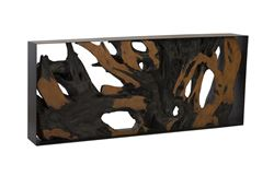Picture of Phillips Collection Cast Root Console In Brown Earth