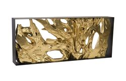 Picture of Phillips Collection Cast Root Console In Gold Leaf