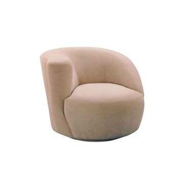 Picture of Lazar Scroll Corkscrew Swivel Chair - Left