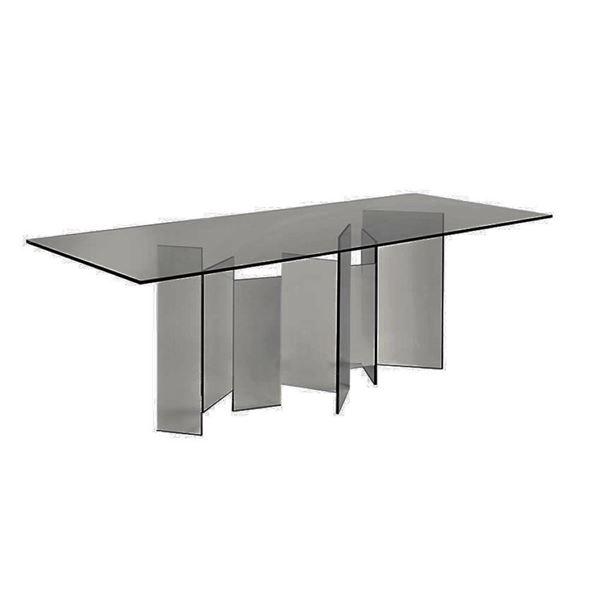 "Picture of Tonelli Design Metropolis Dining Table 88"" Smoked"