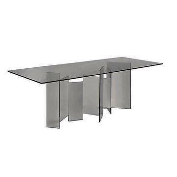 "Picture of Tonelli Design Metropolis Dining Table 96"" Smoked X Wide"