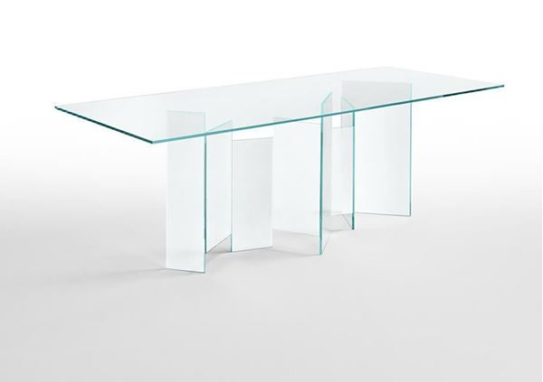 "Picture of Tonelli Design Metropolis Dining Table 102"" Clear"