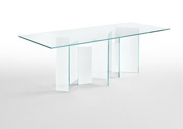 "Picture of Tonelli Design Metropolis Dining Table 118"" Clear"