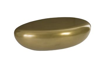 Picture of Phillips Collection River Stone Polished Brass Large Coffee Table