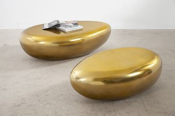 Picture of Phillips Collection River Stone Liquid Gold Coffee Tables